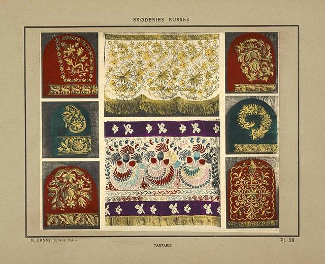 014-Tocados y galones bordados-Tartaria-Broderies russes tartares armeniennes 1925