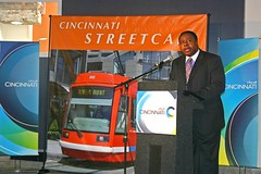 city manager Milton Doheny announces the Cincinnati streetcar (via Randy Simes, Soapbox Cincinnati)
