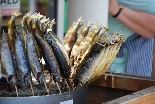鮎、岩魚、ヤマメの塩焼き