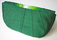 Monochromatic Green Pleated Silk Clutch (Jes Switaj) Tags: wedding green forest bag handmade formal silk olive purse bridesmaid clutch etsy custom emerald accessory dupioni jesswitaj