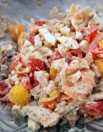 Seafood & Egg Salad Sandwich