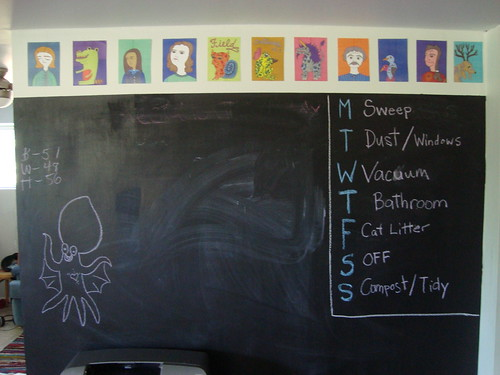our chalkboard wall, july 2010
