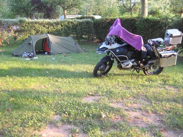 First night camping in Eratzu, Spain