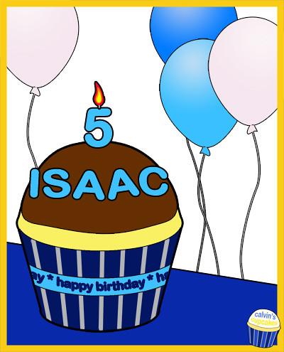Isaac's 5th Birthday Cupcake