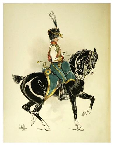 001-Oficial del 5º de Husares 1806-Le chic à cheval histoire pittoresque de l'équitation 1891- Louis Vallet