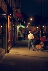 Un soir d't - La promenade du chien (brunotto [Still very busy...]) Tags: street light red summer dog chien man green night canon rouge eos 50mm evening dof asahi takumar walk lumire vert promenade m42 manual grocery t soir rue nuit homme 50mmf14 pdc picerie smctakumar 40d smctakumar50mmf14 takumar50mmf14 canoneos40d manualfocusing miseaupointmanuelle mapmanuelle asahismctakumar1450