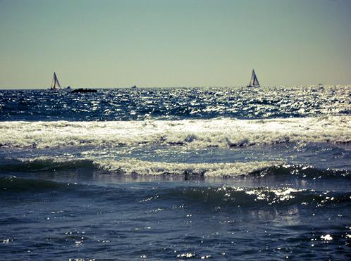 santa monica ocean+sailboats