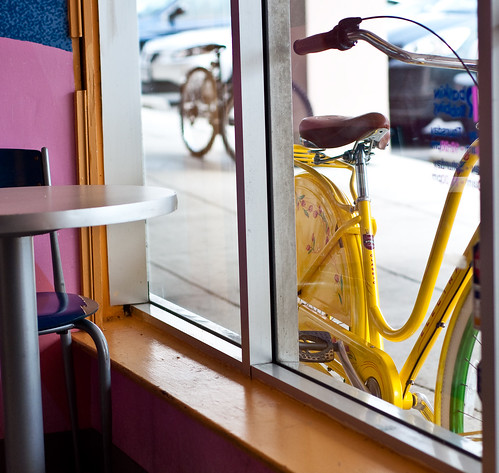 Bike in the window