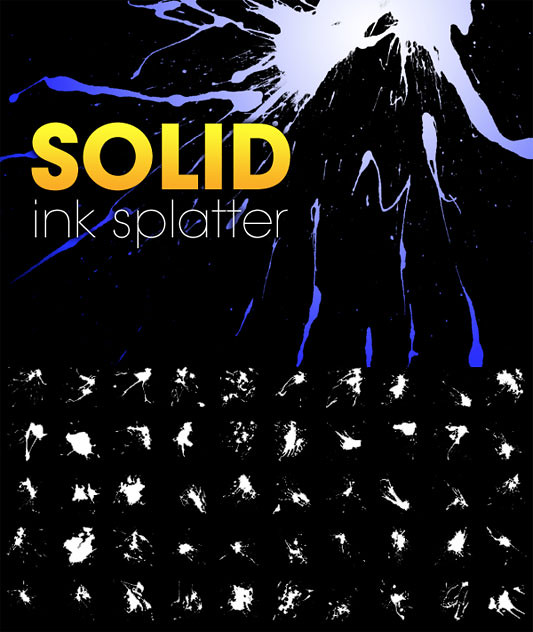 Solid Ink Splatter - Pinceles (brushes) para Photoshop