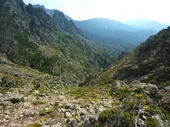 Descente de la Haute Lonca : la descente depuis le verrou rocheux des cascades