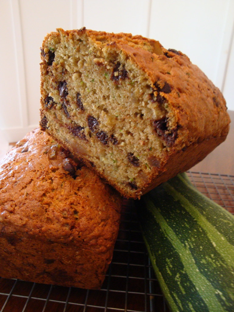 Whole Wheat Chocolate & Ginger Zucchini Bread