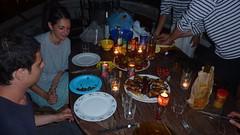 La cena de los piratas (kahala) Tags: dinner port boat marseille pirateship ilesdufrioul batau goelen