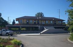 A railroad station on a desk