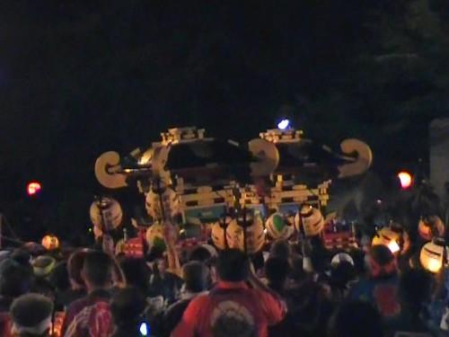祇園祭 2010 福山 けんか神輿 衝突しあう