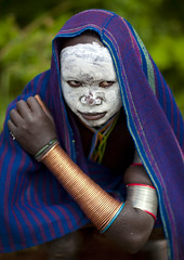 Surma girl with white face - Kibish Ethiopia (Eric Lafforgue) Tags: white girl face artistic culture makeup tribal ornament tribes bodypainting tradition tribe ethnic rite fille surma tribo adornment pigments ethnology tribu omo eastafrica thiopien suri etiopia ethiopie etiopa 3278  etiopija ethnie ethiopi  etiopien etipia  etiyopya  snnpr nomadicpeople         southernnationsnationalitiesandpeoplesregion kibbish peoplesoftheomovalley