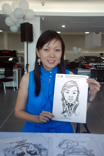Caricature live sketching for Performance Premium Selection BMW - Day 2 - 19