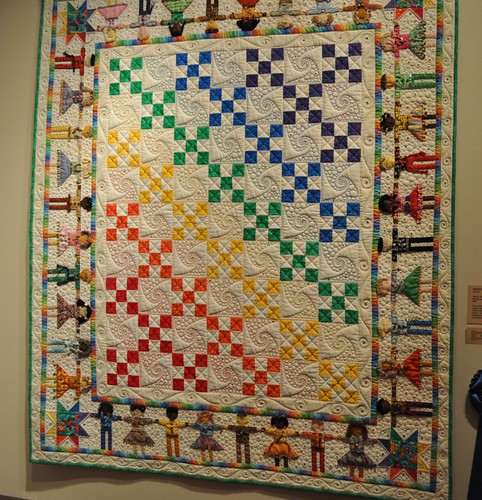 rainbow kids quilt SMofA quilt show 2010