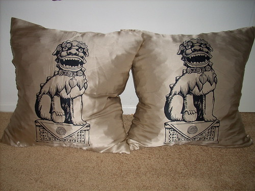 West Elm Foo Dog Pillows