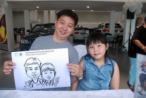Caricature live sketching for Performance Premium Selection BMW - Day 4 - 11