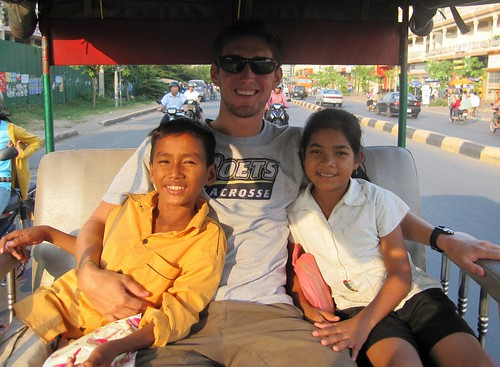 Odom, Bory, Greg Riding Tuk Tuk