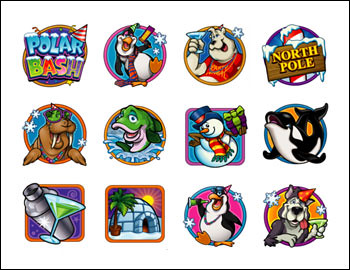 free Polar Bash slot game symbols