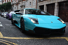 Look into the distance. (Alex Penfold) Tags: blue white black green slr london cars alex sports up car canon photography eos mercedes photo amazing cool purple image turquoise awesome picture fast super spot line exotic photograph lp spotted hyper lamborghini supercar sv spotting matte sls exotica sportscars 2010 combo murcielago 670 merc lambo penfold veloce hypercar 450d hpyer 722s lp6704 lp670