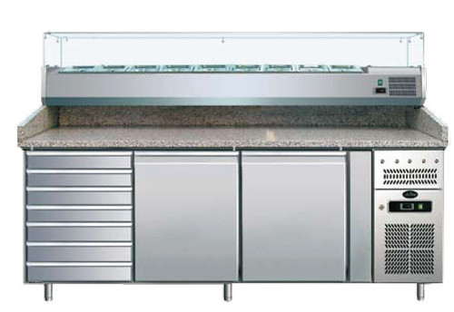 Gam International PIZZA COUNTERS WITH GLASS FRAMEWORKS