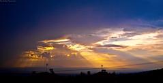 (Konstantinos Vasiliadis) Tags: blue light sunset sun nature yellow contrast sunrise landscapes colours purple olympus greece 1745 e420    melissohori