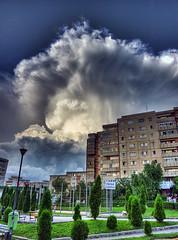 Thunderstorm passing bye in Cluj-Napoca, Romania