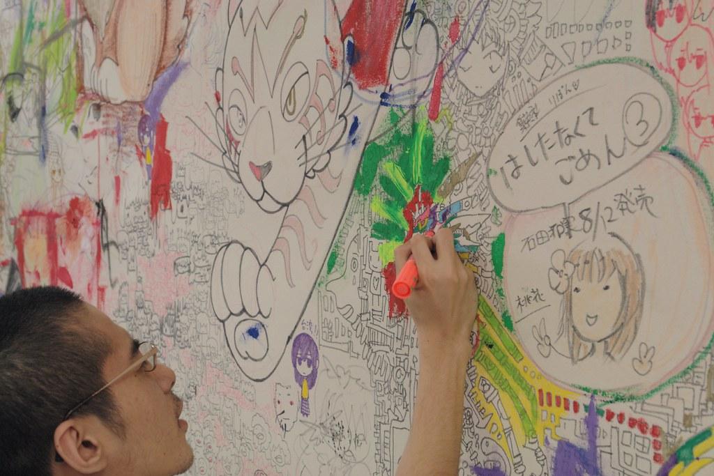 Pixiv Gamenhashi festa : Live drawing at HidariZingaro, Nakano.