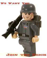 WE WANT YOU! (*Nobodycares*) Tags: poster soldier lego nazis wwii worldwarii german ww2 guns powers promotional troops axis picnik worldwar2 germans wehrmacht mg42 brickarms brickforge