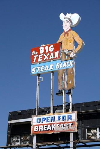 the big texan neon sign
