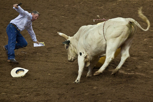 Rodeo Announcer Hit by Bull