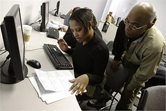 counseling at a Financial Opportunity Center in Chicago (courtesy of LISC)