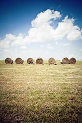 (morgan.laforge) Tags: summer field clouds vivid photograph kansas haybell