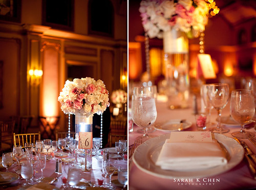 Susan wanted a classic elegant pink wedding with a bit of bling