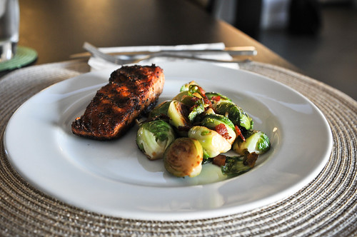 Grilled Salmon and Roasted Brussel Sprouts