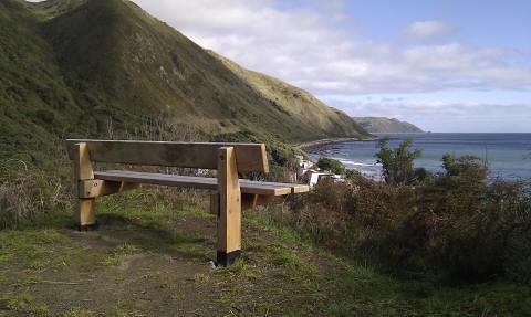 View south to Pukerua Bay escarpment
