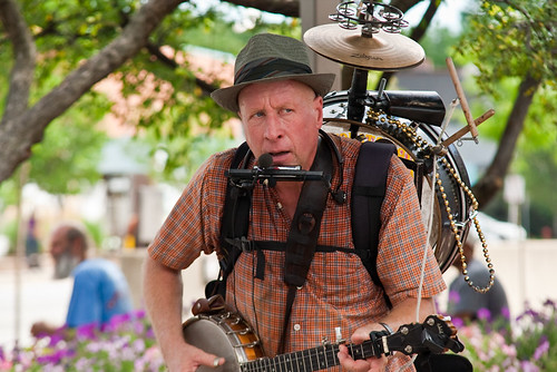 One Man Band Street Performer Ann Arbor Art Fair July 24, 20103