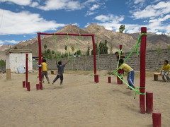 Project in Likir - Low ropes course (JonnyConga) Tags: india mountains trekking leh himalayas ladakh