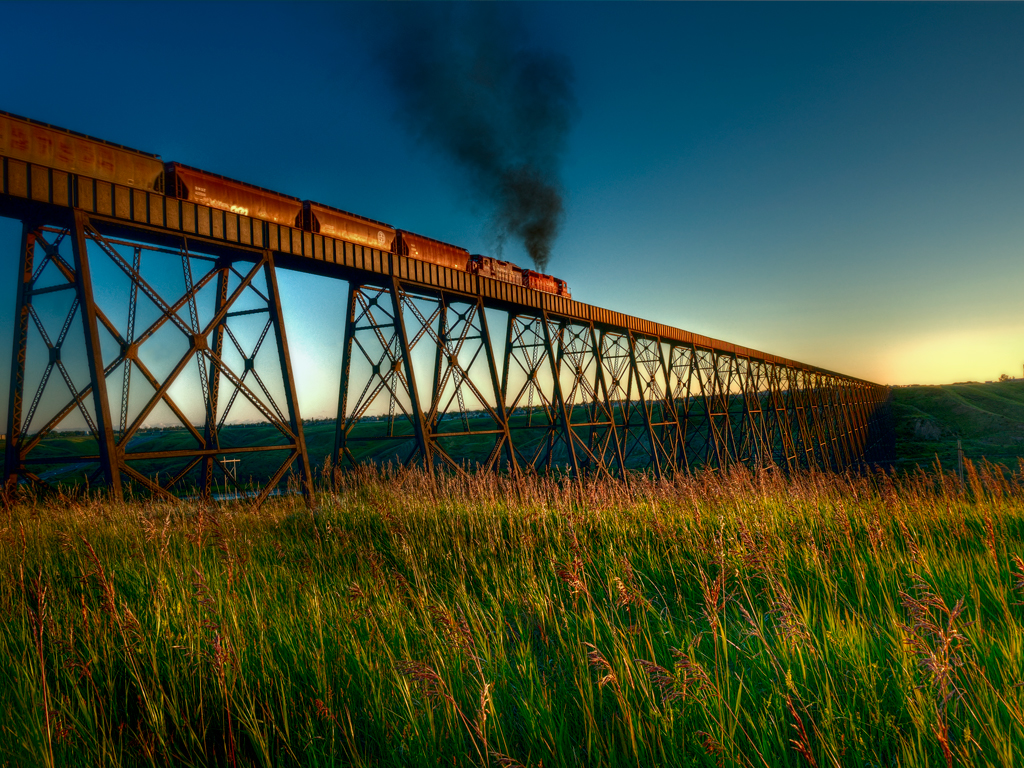 High Level Bridge in Lethbridge Alberta, Canada