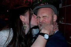 Phoebe kissing Ben (mrlerone) Tags: birthday pub celebration booze charleslamb