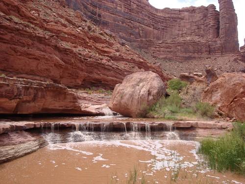 Waterfalls in Grand Gulch
