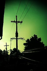 power lines (Nick_Runyan) Tags: blue green yellow shadows theend thegoodlife possibilities thebeginning thehardlife