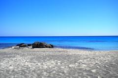 Chania, Greece - July 2010 (kexarcho) Tags: trip travel blue sea summer vacation sun colour beach nature water rock island sand nikon europa mediterra
