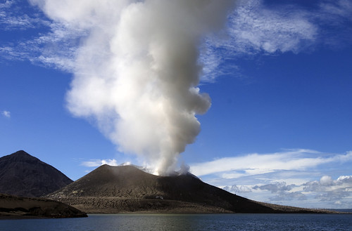 Tavurvur Volcano in Rabaul - East New Britain - Papua New Guinea