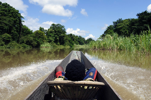 Travelling on Sepik River - Papua New Guinea