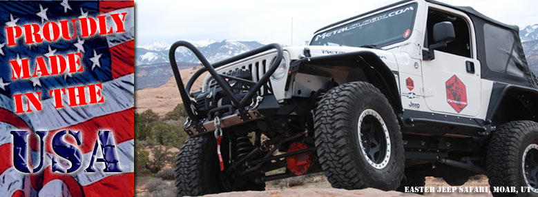 Jeep TJ Tube Fenders at Moab with MetalCloak Made in the USA