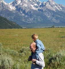 Benjamin taking in the scenery (elayne_crain) Tags: nick meadow antelope benjamin wyoming grandtetons