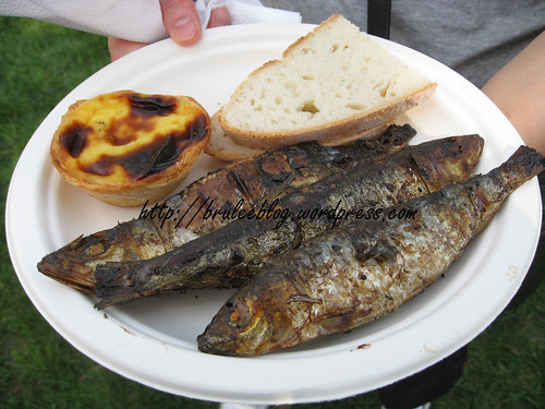 BBQ sardines and pastel de nata